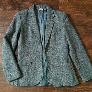 Vintage Wool Houndstooth Blazer